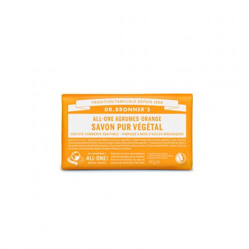 Pain de savon bio agrumes-orange - dr bronner's - paulette store
