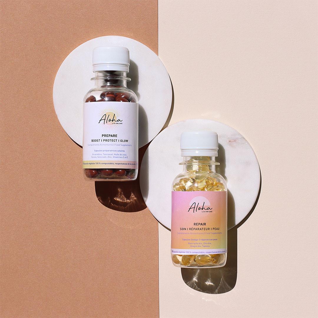Aloha Duo Parfait - D Plus For Care - effet bonne mine & réparation de la peau - Paulette Store