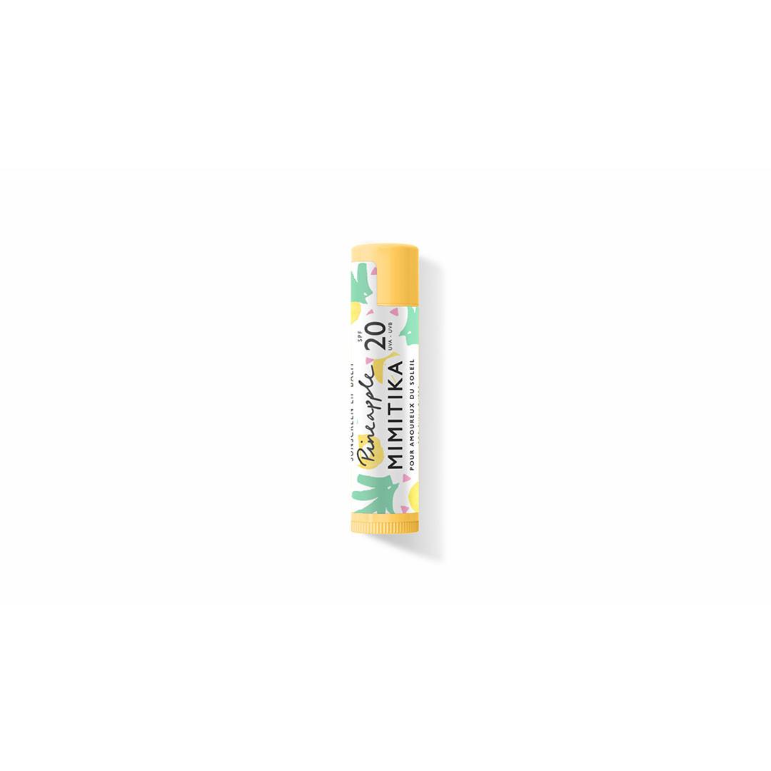 stick à lèvres protecteur spf 20 - parfum ananas - mimitika - paulettestore