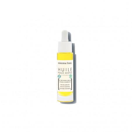 huile de soin visage peaux mixtes - minimaliste - naturel & bio - made in france - paulette store