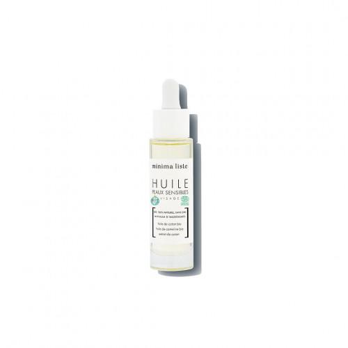 huile de soin visage peaux sensibles - minimaliste - naturel & bio - made in france - paulette store