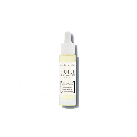 huile de soin visage peaux matures - minimaliste - naturel & bio - made in france - paulette store