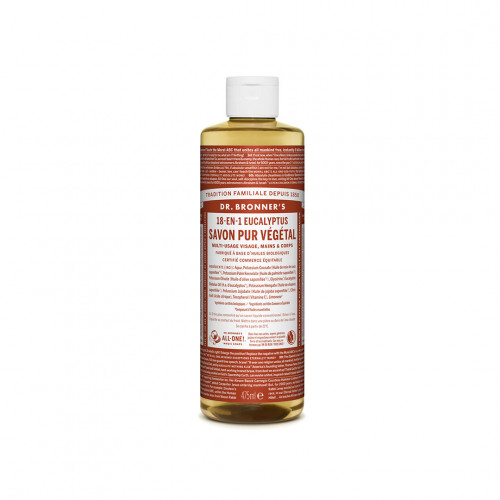 Savon Liquide Bio et multi-usage Eucalyptus - Dr Bronner's - Paulette Store
