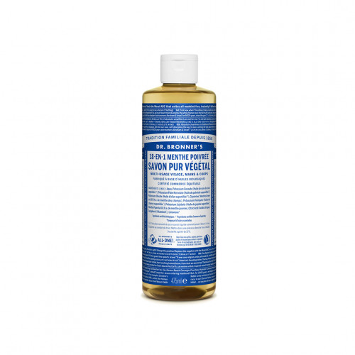 Savon Liquide Bio et Multi-usage Menthe Poivrée - Dr Bronner's - Paulette Store