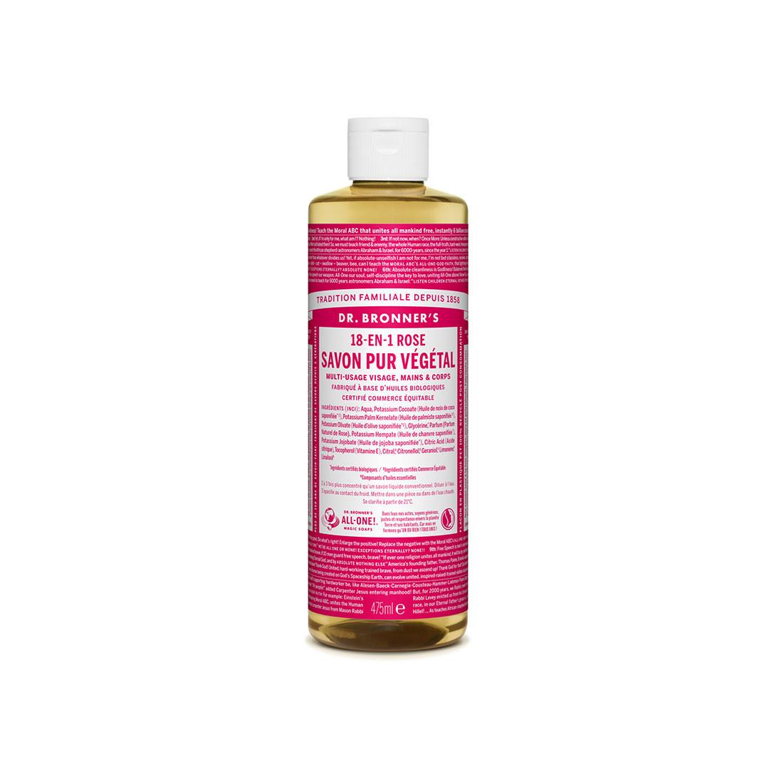 Savon liquide bio et multi-usage à la rose - Dr Bronner's - Paulette Store