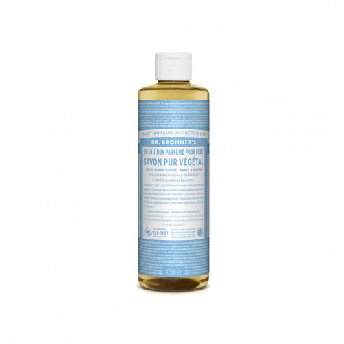 savon liquide bio et multi usage non parfumé pour bébé - dr bronner's - paulette store