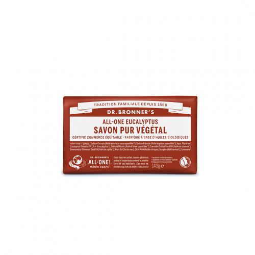 Pain de savon bio eucalyptus - dr bronner's - paulette store